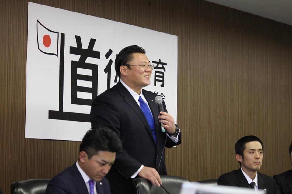 道徳教育推進委員会委員長 中島土君
