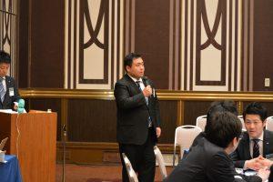 まちづくり委員会 平倉賢明委員長により例会企画の趣旨説明
