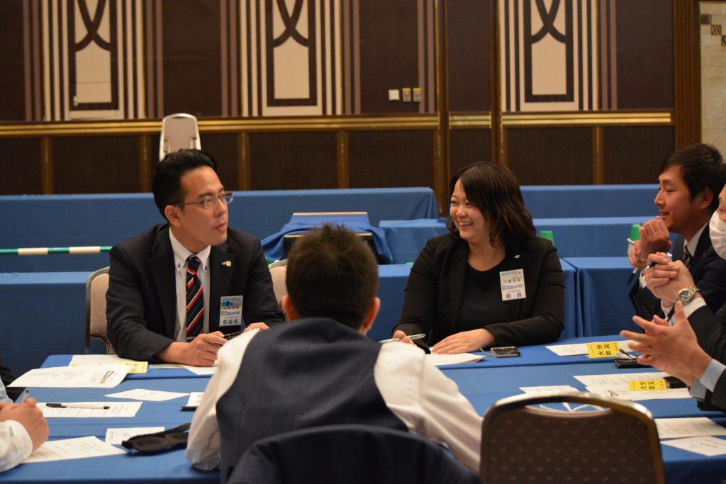 グループ討議① 防災について、グループで討議を行いました。