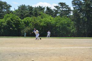 大分のエース喜多嶋は安定した投球で中津打線を抑え込んだ