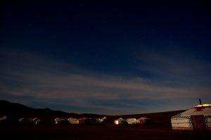 大草原の夜 星空がとてもきれいでした。