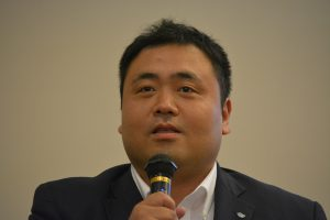 まちづくり委員会 平倉賢明委員長による例会企画の趣旨説明