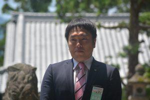 千壽智明 ブロック大会運営委員会委員長による挨拶 本ブロック大会を中心となり企画・運営しました。大会を直前にして引き締まった表情です。