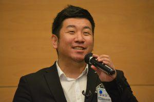 JCボックス 総務委員会 峯野耕一 君 JCI国際アカデミーに参加した感想を述べてくれました。