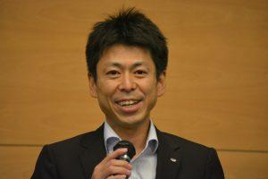 卒業生の部屋 まちづくり委員会 足立健太郎 君 JC生活を振り返り、自分の失敗から学んだ教訓について話しをしてくれました。とても心のこもったお話でした。