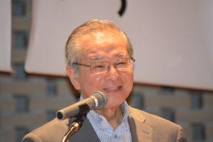 茶道裏千家 事務総長 関根秀治 様 茶道文化について、わかりやすい表現でお話しくださりました。