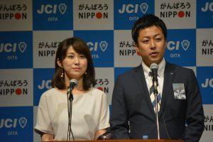 司会進行を務めていただいたフリーアナウンサーの戝前真由美さん(左)