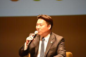 長野市長の描く別府市の今後の展望、あくまでも別府市民の幸せのための市政であることなどについて熱く語ってくれました。
