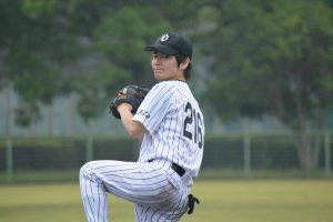 池田修平 投手 絶妙のコントロールと安定感のある投球には定評があります。