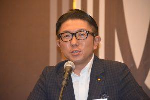 小間喜広通特別顧問による挨拶 目前に迫った九州コンファレンスにかける意気込みなどをお話しくださりました。