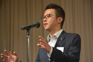 川北慶祐理事長の挨拶でOB交流会はスタートしました。